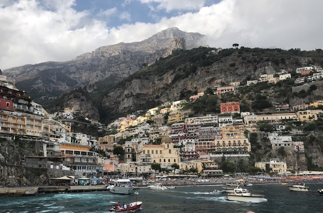 Positano from the ferry