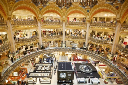 Galeries Lafayette interior in Paris